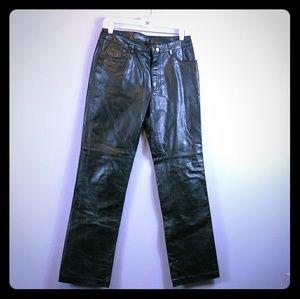 Gap leather pants women's size 8